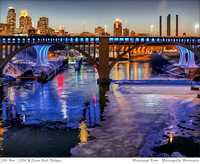 # 4982 Minneapolis - 3 Bridges, Colored River
