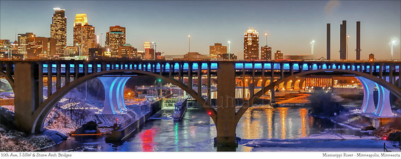 # P4979  Minneapolis - Skyline's Winter Colors