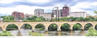 # P4342 Stone Arch & St Anthony - Colored Pencil